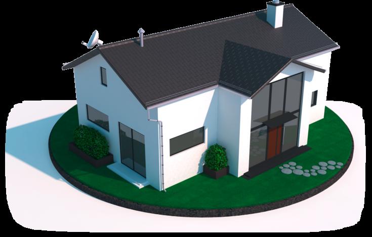Blitzableiter Wohnhaus Infografik Zeichnung Skizze